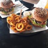 hamburger de cinq étoiles photos stock