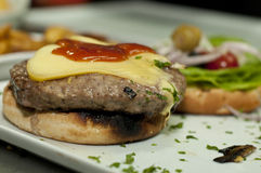 Hamburger de fromage Image stock