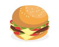 Hamburger de petit déjeuner Images libres de droits