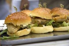 Hamburger de poissons Photos stock