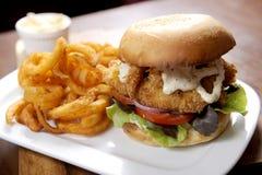 Hamburger de poissons Photo libre de droits