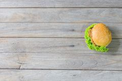 Hamburger de porc Images libres de droits