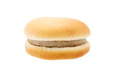 Hamburger de porc d'isolement sur le fond blanc image libre de droits