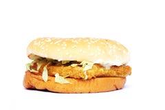 Hamburger de poulet Photos libres de droits
