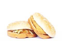 Hamburger de poulet Images libres de droits