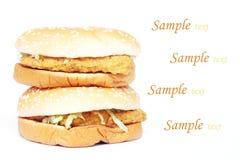 Hamburger de poulet Photos stock