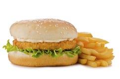 Hamburger de poulet images stock