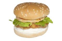 Hamburger de poulet d'actions de nourriture Photographie stock libre de droits