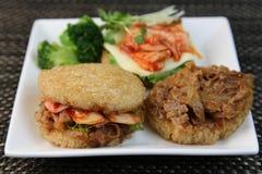 Hamburger de riz Images libres de droits