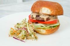 Hamburger de viande Image libre de droits