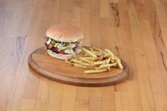 Hamburger de viande Photo libre de droits
