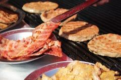 Hamburger del barbecue Fotografia Stock Libera da Diritti