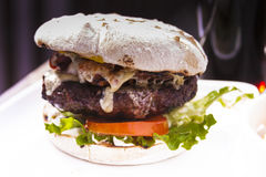 Hamburger del BBQ Fotografia Stock Libera da Diritti