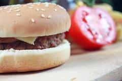 Hamburger del BBQ Fotografie Stock