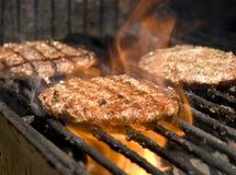 Hamburger del BBQ fotografia stock