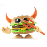 hamburger del diavolo 3d illustrazione vettoriale