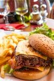 Hamburger del formaggio Fotografia Stock