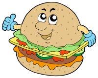 Hamburger del fumetto Fotografia Stock Libera da Diritti