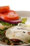 Hamburger del fungo di Portobello Fotografia Stock Libera da Diritti