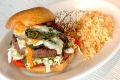 Hamburger del Jalapeno Immagini Stock
