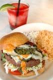 Hamburger del Jalapeno Fotografia Stock Libera da Diritti