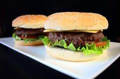 Hamburger del manzo Fotografia Stock