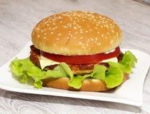 Hamburger del pesce Immagine Stock