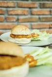Hamburger del pollo Fotografie Stock