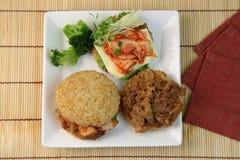 Hamburger del riso Immagine Stock
