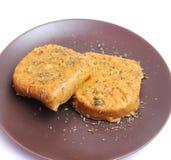 Hamburger del tofu Immagini Stock