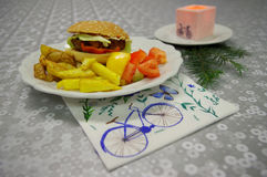 Hamburger del vegano Fotografie Stock