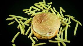 Hamburger delicioso video estoque