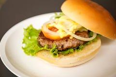Hamburger della carne di maiale Immagini Stock Libere da Diritti
