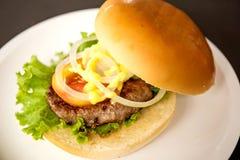Hamburger della carne di maiale Immagini Stock