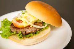 Hamburger della carne di maiale Fotografie Stock