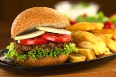 Hamburger della lenticchia Immagini Stock