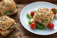 Hamburger della melanzana fotografie stock libere da diritti