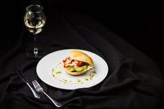 Hamburger della verdura in un panino Fotografie Stock
