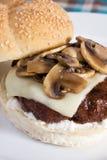 Hamburger dello svizzero del fungo Fotografia Stock