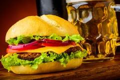 Hamburger detail Royalty Free Stock Photos