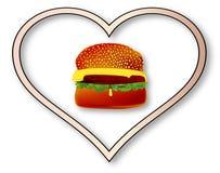 Hamburger di amore illustrazione vettoriale
