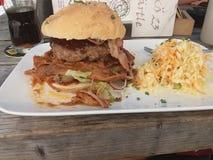 Hamburger di chili con carne immagini stock libere da diritti