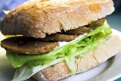 Hamburger di Ciabatta Fotografia Stock Libera da Diritti
