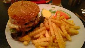 Hamburger di Quattro fotografie stock libere da diritti