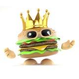 hamburger di re 3d royalty illustrazione gratis