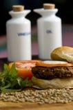 Hamburger di verdure Immagini Stock Libere da Diritti