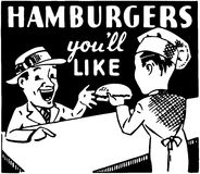 Hamburger, die Sie mögen Lizenzfreie Stockfotografie