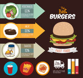 Hamburger digital design. Royalty Free Stock Photography