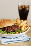 Hamburger dinner Royalty Free Stock Photography