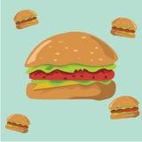Hamburger dla tought Zdjęcie Stock